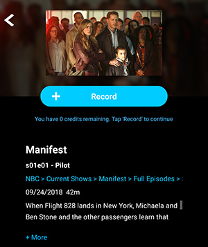 Manifest episode detail