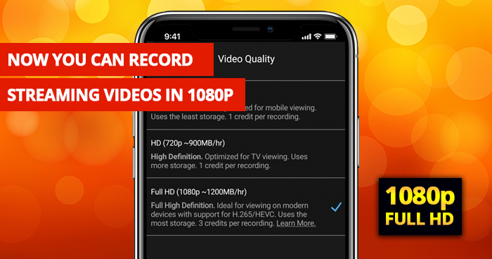 Record streaming videos in 1080p with PlayOn Cloud