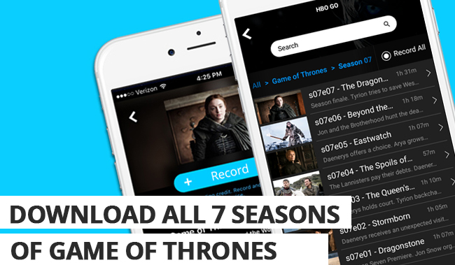 Record & Download All 7 Seasons of Game of Thrones for just $15