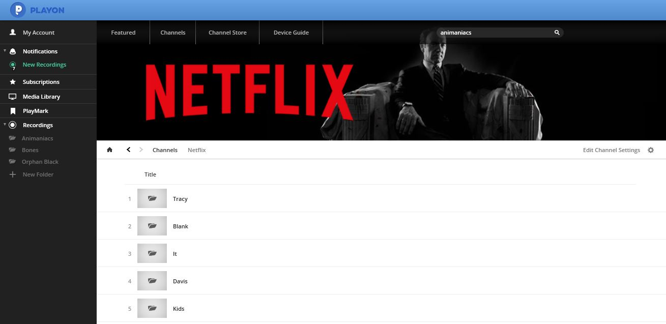 Netflix Profile Screen